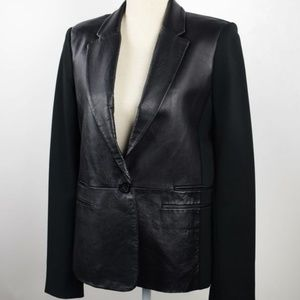 MICHAEL Michael Kors Black Leather Blazer